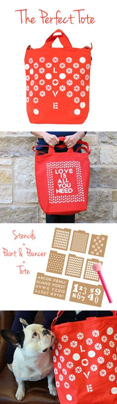 The Perfect Tote | #DIY it | Designed by @M o r e n a's Corner for #darbysmart