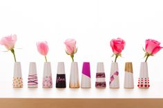 Learn how to decorate bud vases from @Brit Morin Morin   Find craft supplies at Joann.com