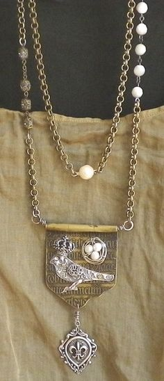 many metals necklace