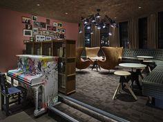 Generator Hostel London  #hostel #London #Holiday #Traveling #design #bar #piano #cafe