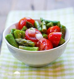 Asparagus Salad | Healthy Recipes Blog #food #recipe #salad #healthy
