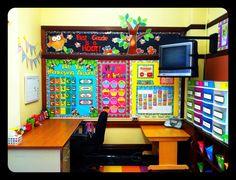 classroom decor, classroom inspir, classroom reveal, cupcak classroom, calendar bulletin board ideas