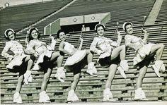 The UT Majorettes kickin' it old school.