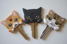 kitti key, cupcak, kitty cats, gift, cat key