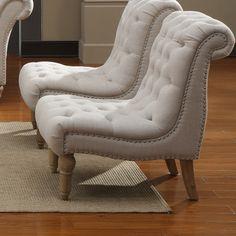 Emerald Home Furnishings Hutton Nailhead Armless Accent Chair