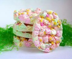 Super Easy Easter Marshmallow Bark