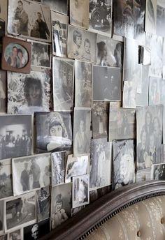 Vintage photo wall