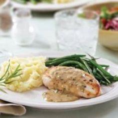 Roasted salmon with cilantro cream