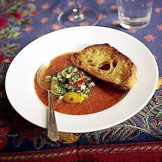 Chilled Tomato Soup, Gazpacho Style Recipe | SAVEUR