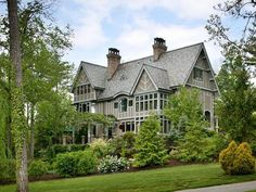 Andie MacDowell's Home in the Biltmore Forest community, Asheville, North Carolina.  The interiors of the home were mostly of arts and crafts design influenced by the Roycroft movement at about the turn of the century.