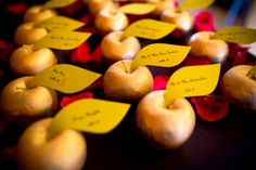 Gold Apples, Bar Mitzvah Escort Seating Cards - Fairytale Theme {Sergei Zhukov & Lasting Memories Photography} - mazelmoments.com