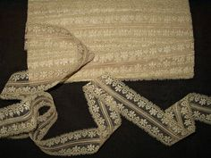Vintage 1930's 1950's Tan Rayon Lingerie Lace Trim Unused 12 Yards