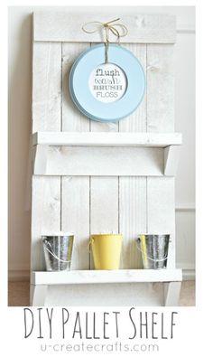 DIY Pallet Shelf & Free Printable by UCreate... LOVE IT!