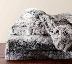 Faux Fur Ombre Throw faux fur, potterybarn, fur throw, furs, christmas decorations, barns, pottery barn, bedroom, throw blankets