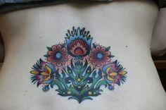 I love seeing my own tattoos pop up on Pinterest! :)  My wycinanki (Polish paper cut art) tattoo.