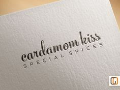 Cardamom Kiss // Unique Logotype graphic by GraphicOverdrive, $89.95