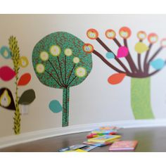 Pop & Lolli Fabric Wall Decals - Magical Desert Trees