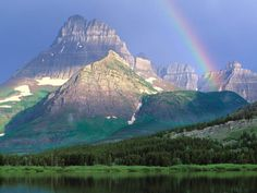 Mountains in Montana god, rocky mountains, national parks, lake, beauty, earth, place, rainbow, british columbia