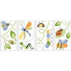 Kids Line Cute As A Bug Wall Decals