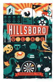 Nashville Neighborhood Series - Hillsboro Village