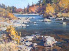 art inspir, art water, oil landscap, landscape paintings, art tutori, landscap paint, eye art, pole creek, scott christensen