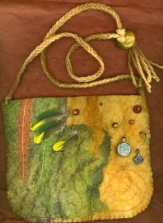 Sechura wetfelted bag by ThistleWoolworks.etsy.com