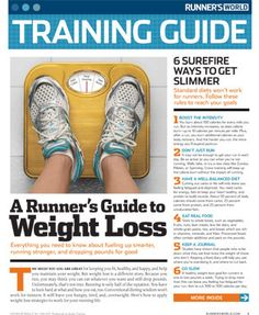 awesome runner's guide to weight loss