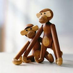 Kay Bojsen Monkey. Now being produced by Chinese woodturners due to a lack of skilled professional wood turners in Denmark. Read more about the skills and quality issues at SnOOp