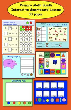 Primary Math Bundle: Interactive Smartboard Lessons (30 Pages)