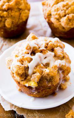 Glazed Apple Crumb Muffins