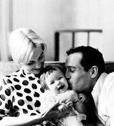 Paul Newman & Joanne Woodward with daughter Nell | Family