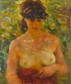 Nude Torso in Sunlight  Marcel Dyf (French) grand projet, prochain grand, maya desnuda, art station, nude, mon prochain, la maya, interim art, erot art