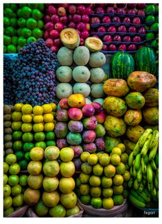 Beautiful colors of fruits