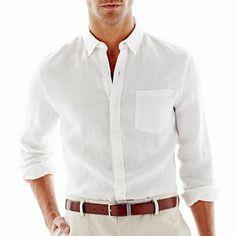 claiborn linen, linen shirt, men shirts