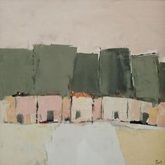 Sandra Pratt(American, b.1978)    Pink Houses     Oil on Canvas