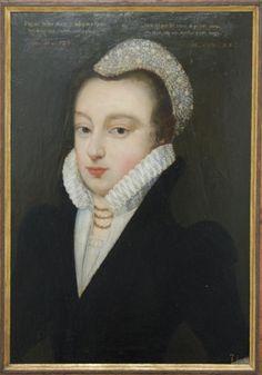 1568 Portrait of an Unknown Woman. Unknown Artist (English School) (c) Ninya Mikhaila of Tudor Tailor.