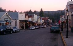downtown Nevada City in December