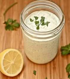 Home made Ranch Dressing with my fresh herbs, yummm