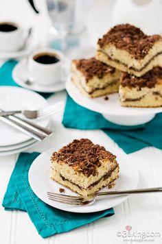 Chocolate-Swirl Cinnamon Streusel Coffeecake