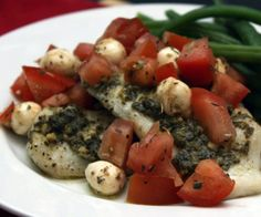 Whip up this light, healthy, delicious baked tilapia caprese in less than 15 minutes.