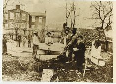 Samuel Weaver and a hired crew exhumed the bodies of the fallen Union soldiers from the June 30, 1863, Battle of Hanover in southwestern York County, PA.