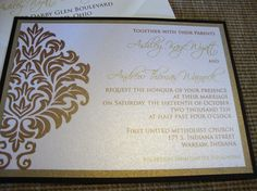 Damask Wedding Invitation