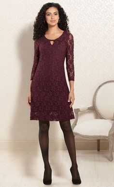Best-Dressed Guest: #Soma Keyhole Detail Lace Dress in #Merlot #SomaIntimates