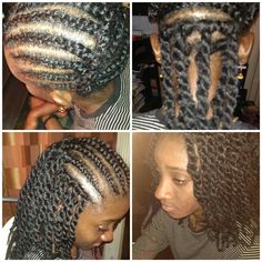 Check out this genius Protective Style:  My Journey to Great Hair • Crocheted Marley Twists