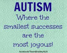 Autism ~ Where the smallest successes are the most joyous!