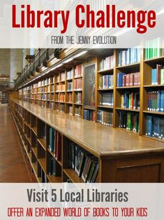 A Library Challenge to Parents! Grow Your Kid's Love of Reading. From The Jenny Evolution