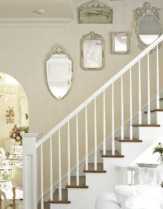staircase with silver mirrors - elegant...