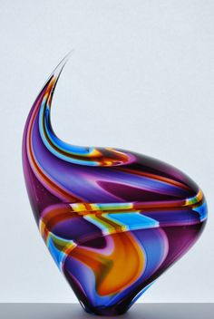 Paull Rodrigue fun colors and form in glass