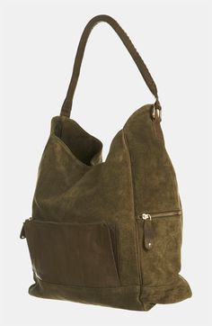 Slouchy Suede & Leather Tote