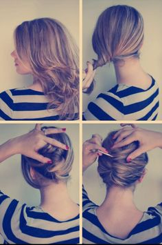 Easy and quick  hair dos